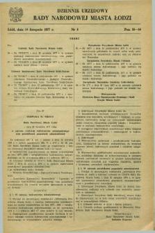 Dziennik Urzędowy Rady Narodowej M. Łodzi. 1977, nr 8 (14 listopada)