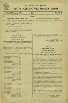 Dziennik Urzędowy Rady Narodowej M. Łodzi. 1977, nr 9 (30 listopada)