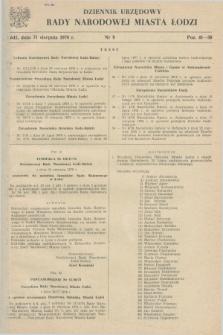 Dziennik Urzędowy Rady Narodowej M. Łodzi. 1978, nr 9 (31 sierpnia)