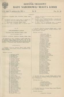 Dziennik Urzędowy Rady Narodowej M. Łodzi. 1978, nr 10 (16 października)