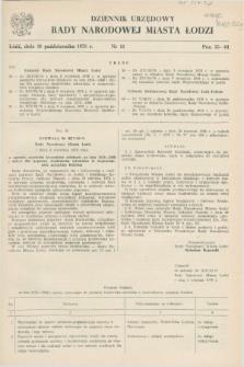 Dziennik Urzędowy Rady Narodowej M. Łodzi. 1978, nr 11 (28 października)