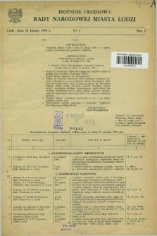 Dziennik Urzędowy Rady Narodowej M. Łodzi. 1979, nr 1 (28 lutego)