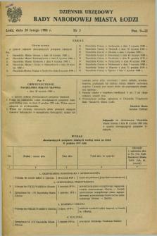 Dziennik Urzędowy Rady Narodowej M. Łodzi. 1980, nr 3 (20 lutego)