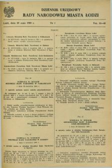 Dziennik Urzędowy Rady Narodowej M. Łodzi. 1980, nr 7 (10 maja)