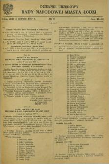 Dziennik Urzędowy Rady Narodowej M. Łodzi. 1980, nr 9 (2 sierpnia)