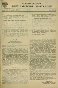 Dziennik Urzędowy Rady Narodowej M. Łodzi. 1980, nr 12 (29 grudnia)