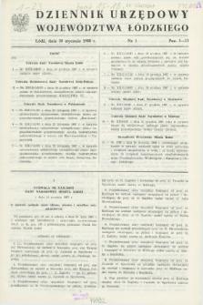 Dziennik Urzędowy Województwa Łódzkiego. 1988, nr 1 (30 stycznia)