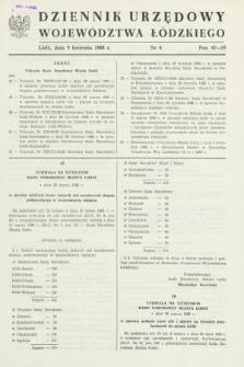 Dziennik Urzędowy Województwa Łódzkiego. 1988, nr 6 (9 kwietnia)