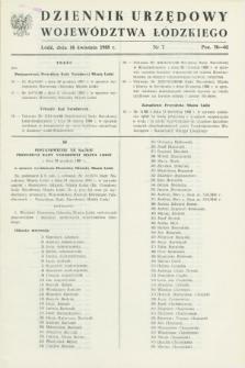 Dziennik Urzędowy Województwa Łódzkiego. 1988, nr 7 (16 kwietnia)