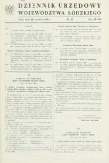 Dziennik Urzędowy Województwa Łódzkiego. 1988, nr 12 (17 czerwca)