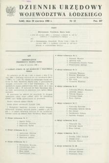 Dziennik Urzędowy Województwa Łódzkiego. 1988, nr 13 (28 czerwca)