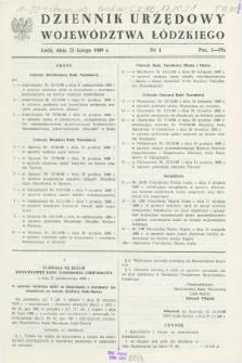 Dziennik Urzędowy Województwa Łódzkiego. 1989, nr 1 (23 lutego)