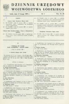 Dziennik Urzędowy Województwa Łódzkiego. 1989, nr 3 (15 lutego)