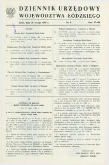 Dziennik Urzędowy Województwa Łódzkiego. 1989, nr 4 (28 lutego)