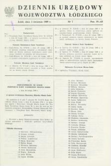 Dziennik Urzędowy Województwa Łódzkiego. 1989, nr 7 (3 kwietnia)