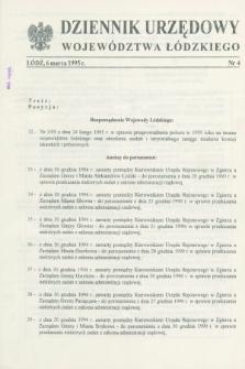 Dziennik Urzędowy Województwa Łódzkiego. 1995, nr 4 (6 marca)