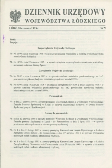 Dziennik Urzędowy Województwa Łódzkiego. 1995, nr 9 (30 czerwca)