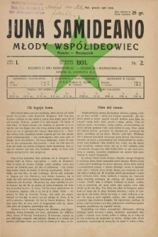 Juna Samideano = Młody Współideowiec. Jaro 1, nr 2 (wrzesień 1931)