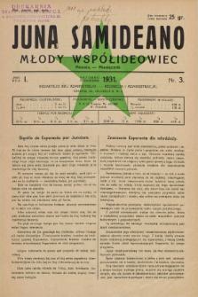 Juna Samideano = Młody Współideowiec. Jaro 1, nr 3 (październik 1931)