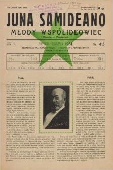 Juna Samideano = Młody Współideowiec. Jaro 1, nr 4/5 (listopad/grudzień 1931)