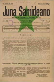 Juna Samideano : internacia monata - junulara revuo. Jaro 2, nr 1 (januaro 1932)