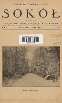 """Przewodnik Gimnastyczny """"Sokół"""" : organ Związku Tow. Gimnastycznych """"Sokół"""" w Polsce. R.51 (1934), nr1"""