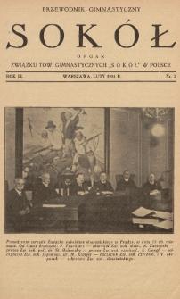 """Przewodnik Gimnastyczny """"Sokół"""" : organ Związku Tow. Gimnastycznych """"Sokół"""" w Polsce. R.51 (1934), nr2"""