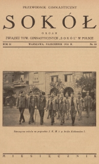 """Przewodnik Gimnastyczny """"Sokół"""" : organ Związku Tow. Gimnastycznych """"Sokół"""" w Polsce. R.51 (1934), nr10"""