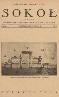 """Przewodnik Gimnastyczny """"Sokół"""" : organ Związku Tow. Gimnastycznych """"Sokół"""" w Polsce. R.51 (1934), nr11"""