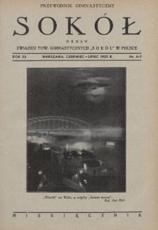 """Przewodnik Gimnastyczny """"Sokół"""" : organ Związku Towarzystw Gimnastycznych """"Sokół"""" w Polsce. R.52 (1935), nr6-7"""