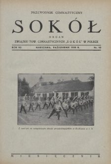 """Przewodnik Gimnastyczny """"Sokół"""" : organ Związku Towarzystw Gimnastycznych """"Sokół"""" w Polsce. R.52 (1935), nr10"""