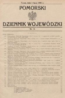 Pomorski Dziennik Wojewódzki. 1931, nr14