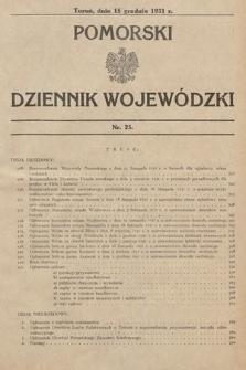 Pomorski Dziennik Wojewódzki. 1931, nr25