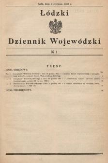 Łódzki Dziennik Wojewódzki. 1932, nr1