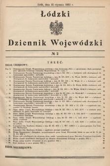 Łódzki Dziennik Wojewódzki. 1932, nr2