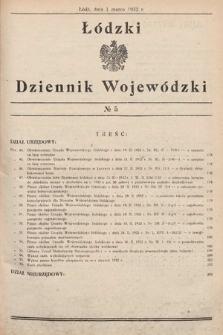 Łódzki Dziennik Wojewódzki. 1932, nr5