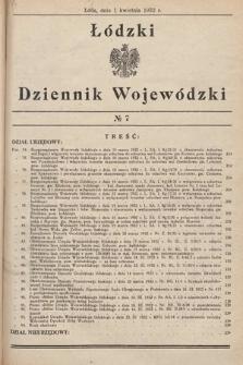 Łódzki Dziennik Wojewódzki. 1932, nr7