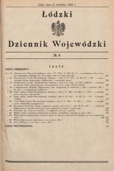 Łódzki Dziennik Wojewódzki. 1932, nr8