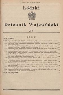 Łódzki Dziennik Wojewódzki. 1932, nr9