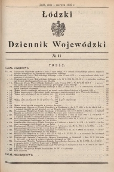 Łódzki Dziennik Wojewódzki. 1932, nr11