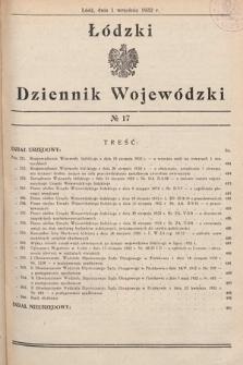 Łódzki Dziennik Wojewódzki. 1932, nr17