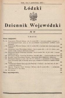 Łódzki Dziennik Wojewódzki. 1932, nr19