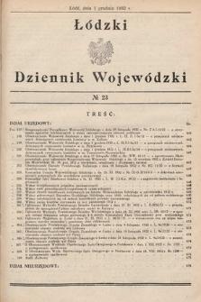 Łódzki Dziennik Wojewódzki. 1932, nr23