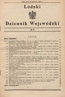 Łódzki Dziennik Wojewódzki. 1931, nr9