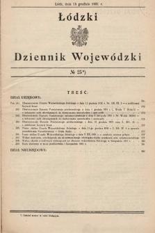 Łódzki Dziennik Wojewódzki. 1931, nr25