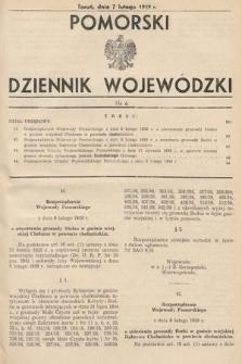 Pomorski Dziennik Wojewódzki. 1939, nr6