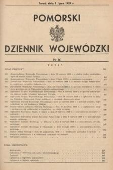 Pomorski Dziennik Wojewódzki. 1939, nr16