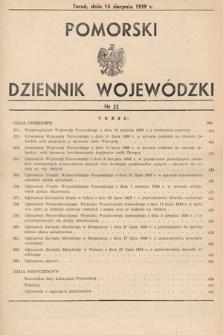 Pomorski Dziennik Wojewódzki. 1939, nr22