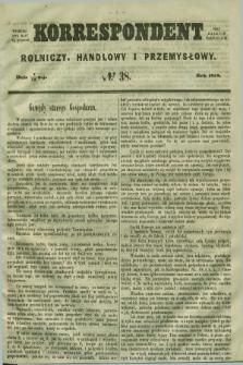 Korrespondent Rolniczy, Handlowy i Przemysłowy : wychodzi dwa razy na tydzień przy Gazecie Warszawskiéj. 1858, № 38 (19 maja)