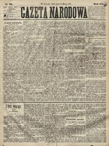 Gazeta Narodowa. 1881, nr63